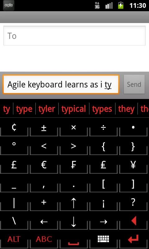 Agile Keyboard Free- screenshot