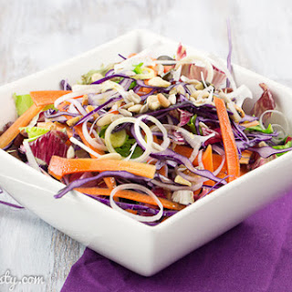Colorful Red Cabbage Salad.
