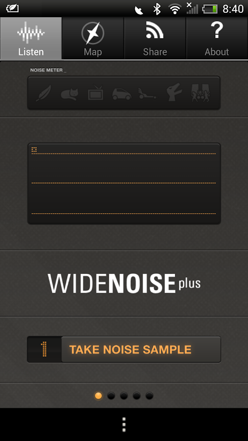 WideNoise Plus- screenshot