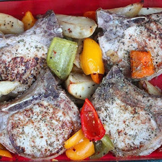Pork Chops With Potatoes and Vinegar Peppers