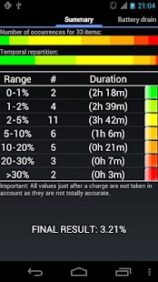 My Battery Drain Analyser - screenshot thumbnail