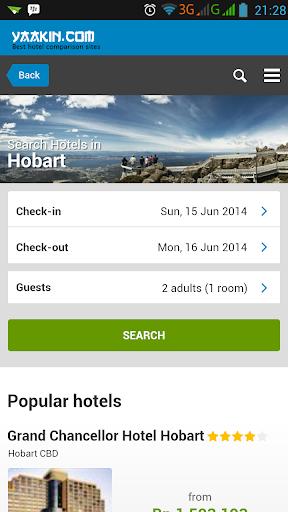 Hobart Hotels Comparison