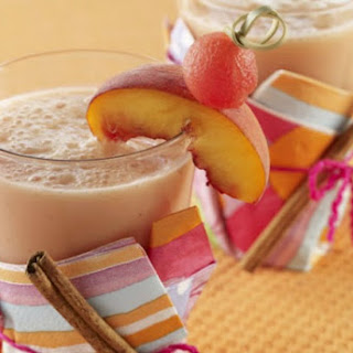 Watermelon, Pineapple and Peach Smoothie.