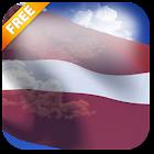 3D Latvia Flag Live Wallpaper icon