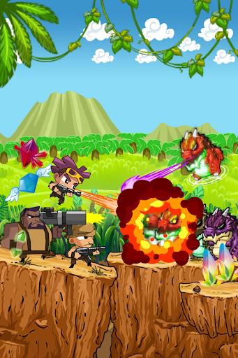 バトル中の兵士 - ジャングルゲーム