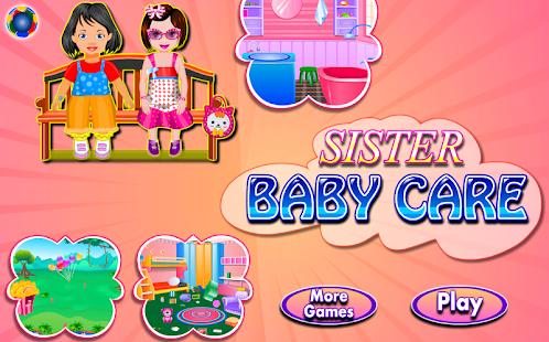 嬰兒護理女孩遊戲