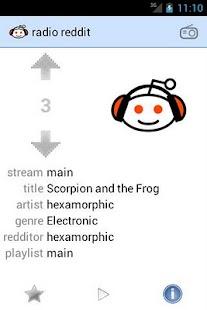 radio reddit - screenshot thumbnail