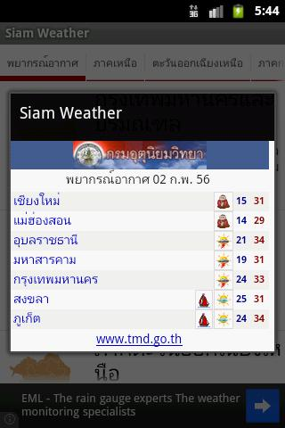 Siam Weather - screenshot