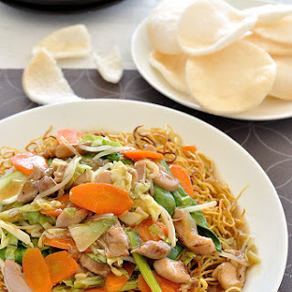 Crispy Noodles with Chicken.