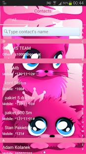 Pink cats theme 4 GO SMS Pro- screenshot thumbnail
