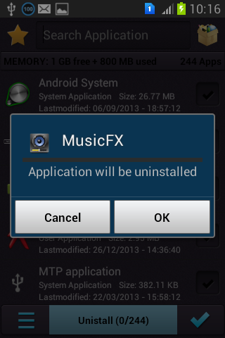 Multi Apps Uninstaller - screenshot