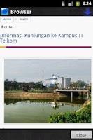 Screenshot of ITT InfoCenter