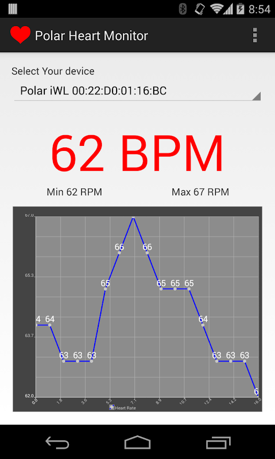Heart Rate Monitor for Polar- screenshot
