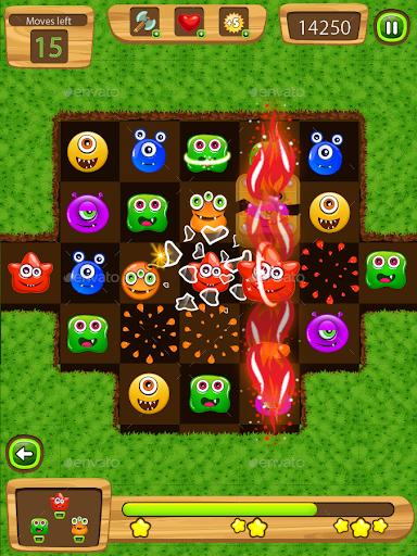玩免費休閒APP|下載Flurry Monster Match 3 app不用錢|硬是要APP