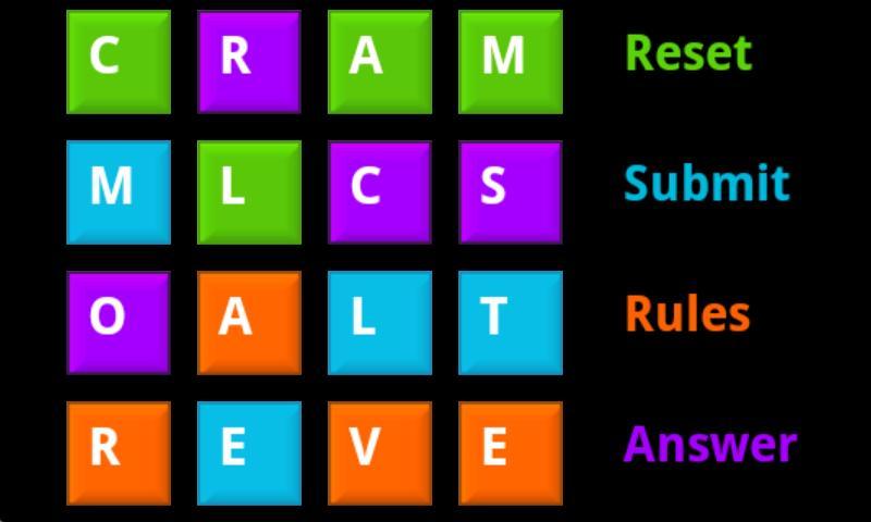 Word Matrix- screenshot