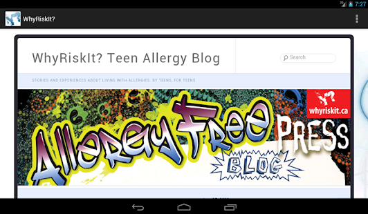 WhyRiskIt? Teen Allergy Info- screenshot thumbnail