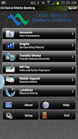 Screenshot of CU SoCal Mobile Banking