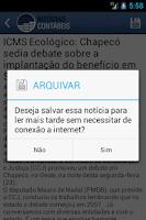 Screenshot of Notícias de Contabilidade