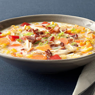 Smoky Turkey Corn Chowder with Bacon