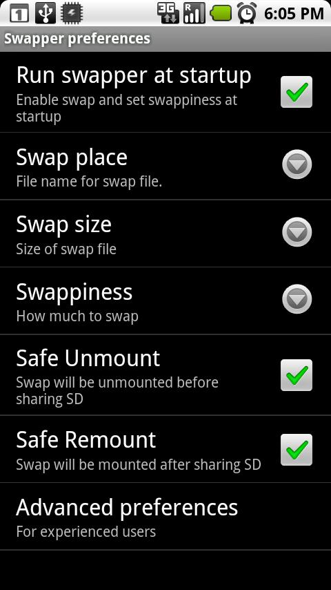 Swapper 2 (for Root users) - screenshot