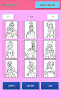 Screenshot of Coloring Page - Princess