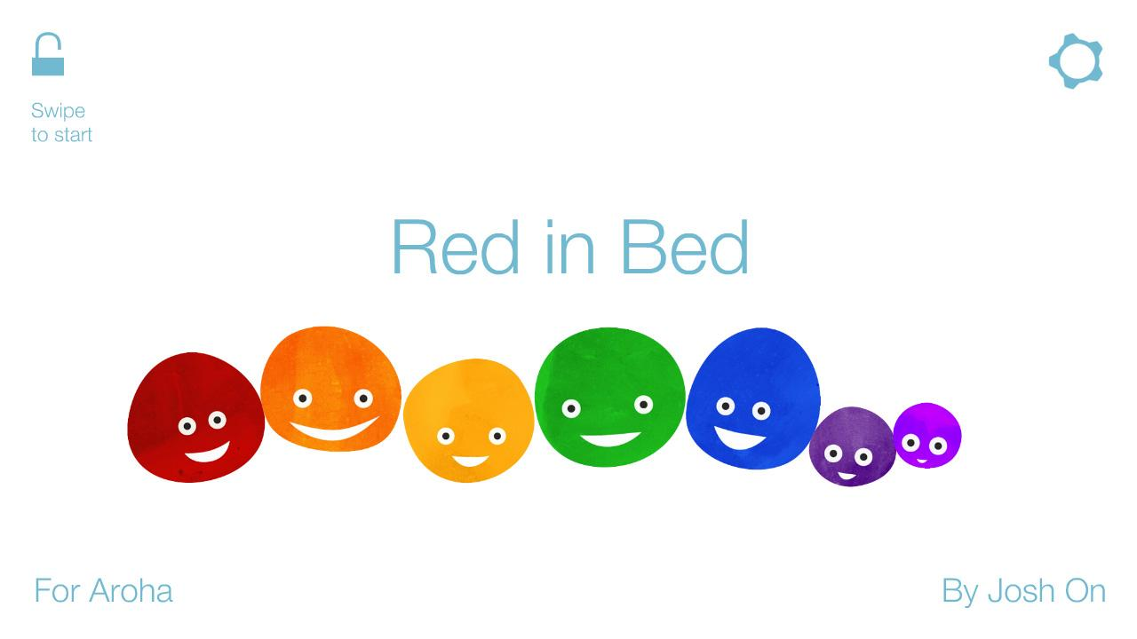 Red in Bed: kids book - screenshot
