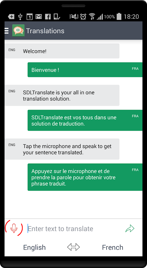 SDL Translate- screenshot