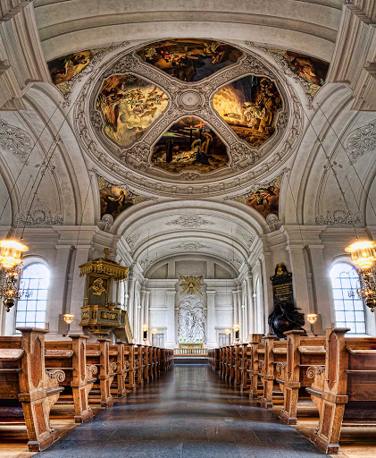 The church of Adolf Fredrik in Stockholm, Sweden (photo in HDR Vertorama).