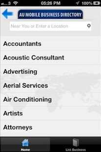 AU Mobile Business Directory- screenshot thumbnail