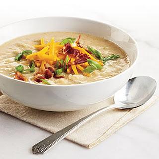 Creamy, Light Potato Soup.