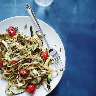 Linguine with Grill-Roasted Tomatoes and Zucchini Pesto