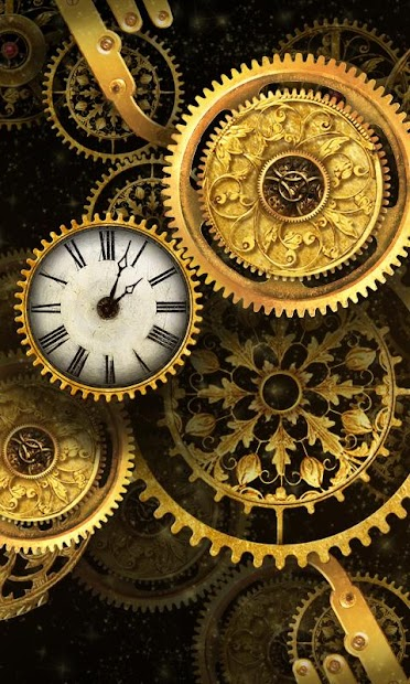 Free gold clock live wallpaper apps on google play - Gold wallpaper for android ...