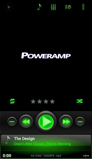 Mad Jelly Green Poweramp Skin  screenshots 1