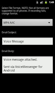 Voice Messenger screenshot