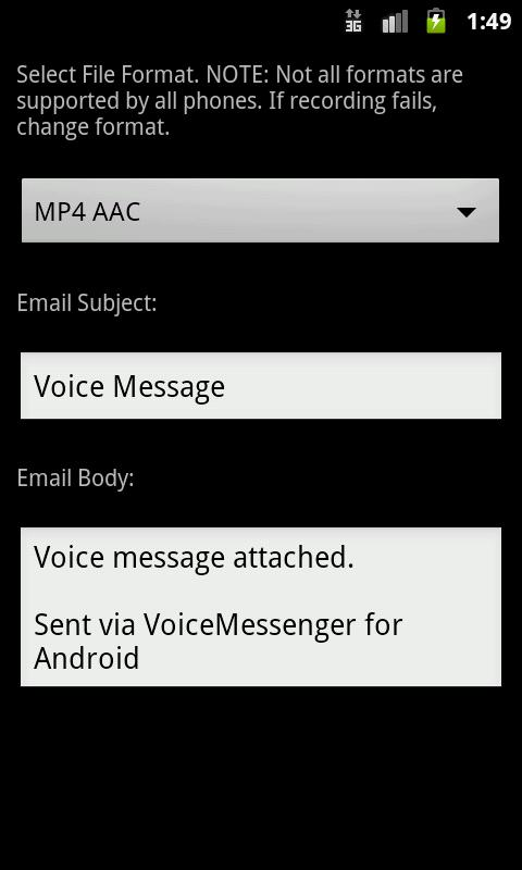 Voice Messenger - screenshot