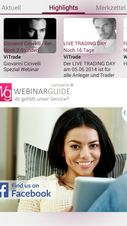 WebinarGuide – Screenshot
