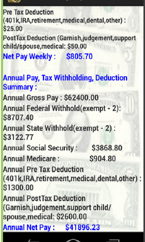 weekly paycheck tax calculator