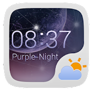 PURPLENIGHT THEME GO WEATHEREX