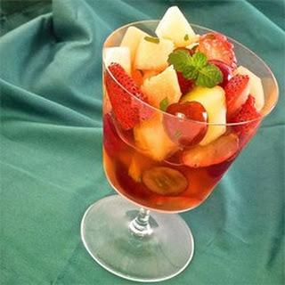 White Wine Fruit Cocktail.