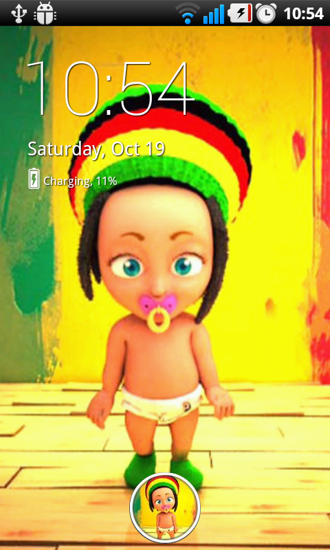 Rasta Baby Live Wallpaper - screenshot