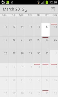 Calendar from Android 4.1 - screenshot thumbnail