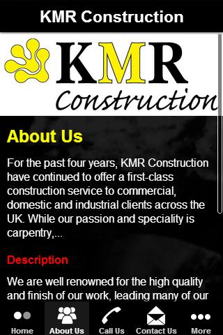 【免費商業App】KMR Construction-APP點子
