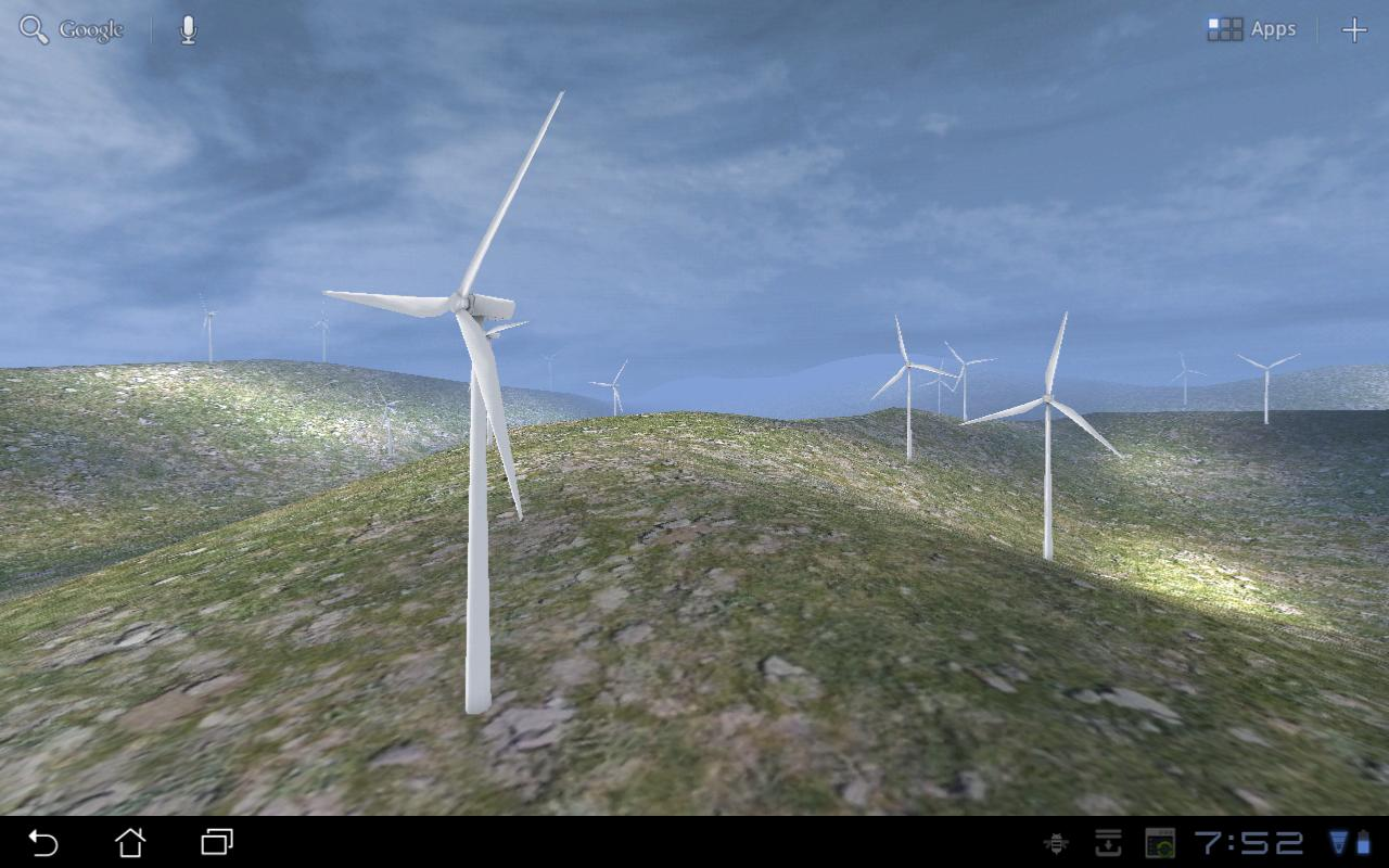 Wind Turbines 3D Live Wallpaper- screenshot