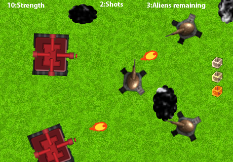 Aliens Tank Invaders
