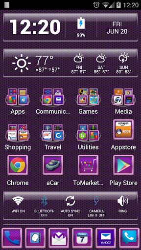 LC Carbon Purple Pink Theme