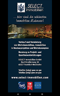 SELECT Immobilien – Miniaturansicht des Screenshots