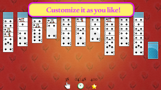 Pin Up Spider Solitaire- screenshot thumbnail