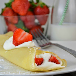 Strawberries and Cream Crepes.