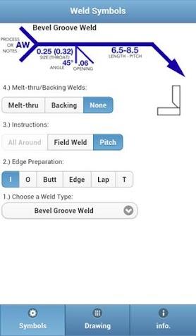 Weld Symbols Screenshot