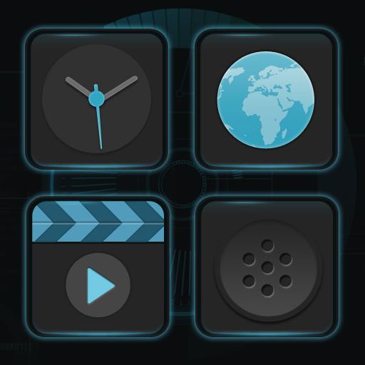 Black Square Atom Iconpack